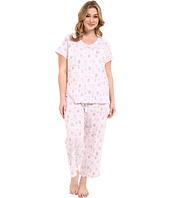 Carole Hochman - Plus Size Cotton Printed Capris Pajama