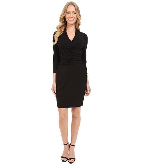 NYDJ Ruched Side Stretch Crepe Dress