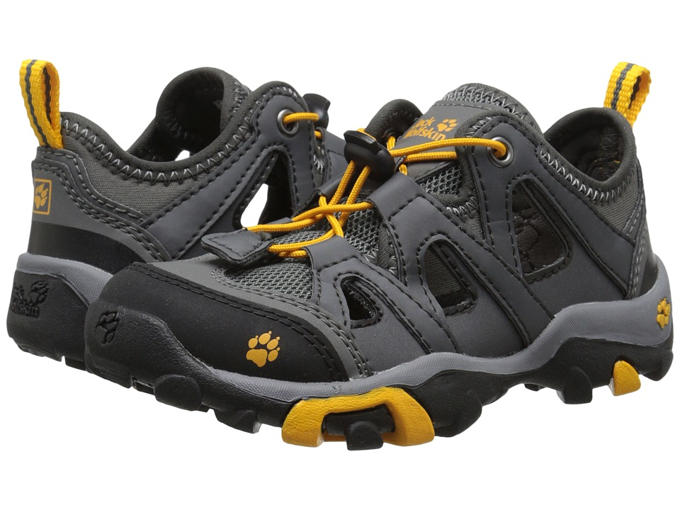 Jack Wolfskin Kids Mountain Attack Air Toddler/Little Kid/Big Kid Tarmac Grey Boys Shoes