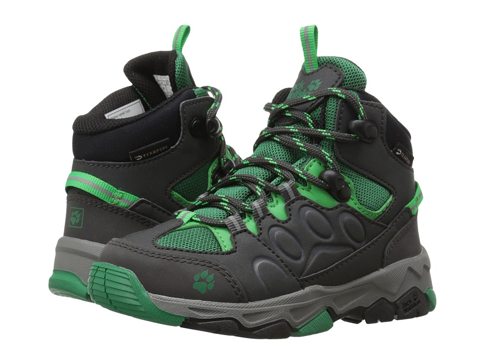 Jack Wolfskin Kids Mountain Attack 2 Waterproof Mid Toddler/Little Kid/Big Kid Cucumber Green Boys Shoes
