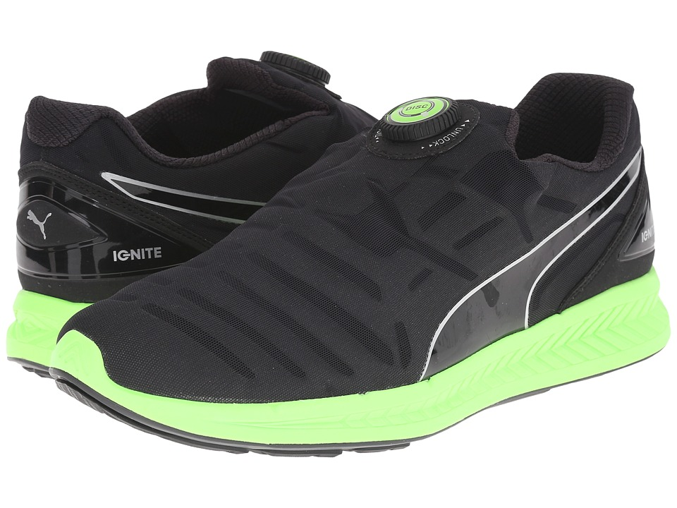 PUMA - Ignite Disc (Black/Green Gecko) Men