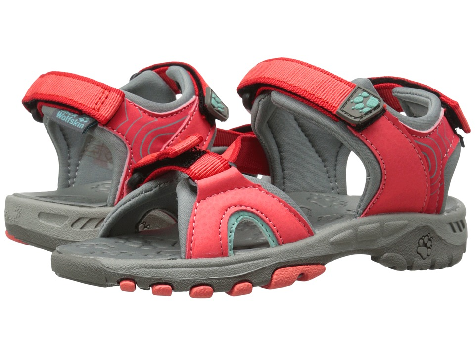 Jack Wolfskin Kids Lakewood Ride Sandal Toddler/Little Kid/Big Kid Hibiscus Red Girls Shoes