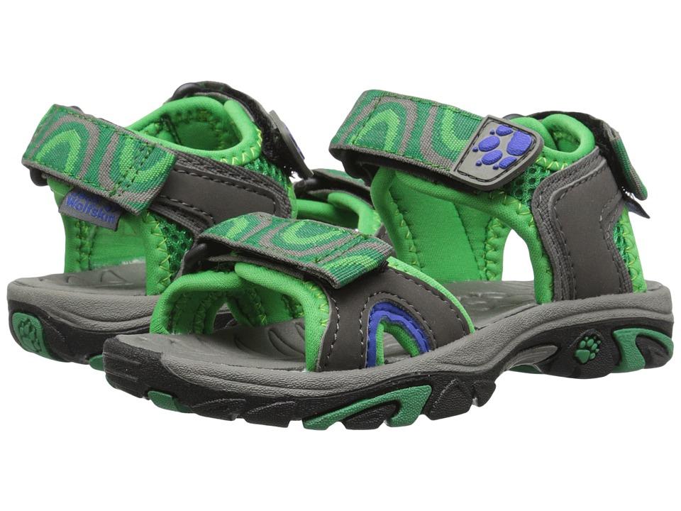 Jack Wolfskin Kids Lakewood Ride Sandal Toddler/Little Kid/Big Kid Seagrass Boys Shoes