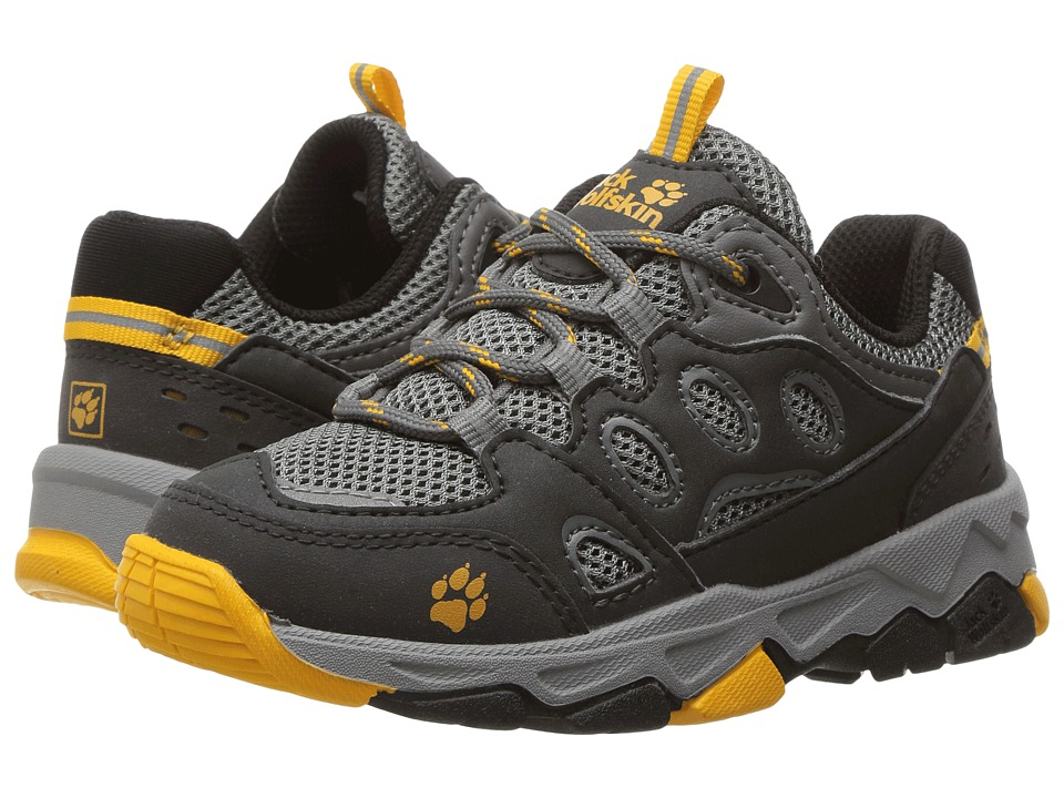 Jack Wolfskin Kids Mountain Attack 2 (Toddler/Little Kid/Big Kid) (Burly Yellow) Boy's Shoes