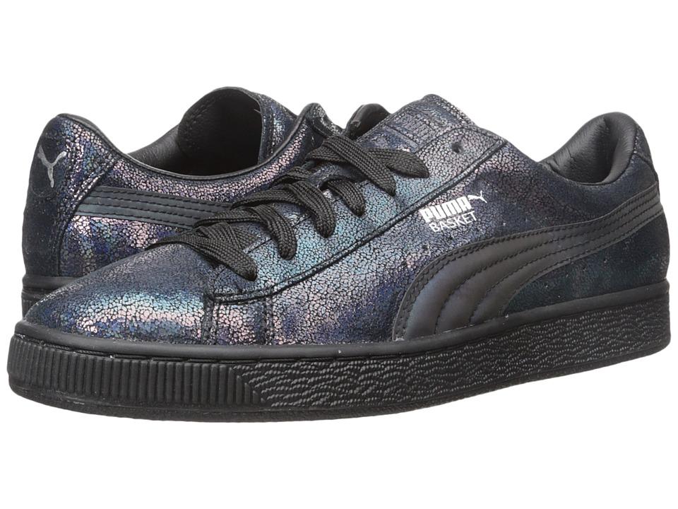 PUMA Basket Deep Summer Black/Black Womens Shoes