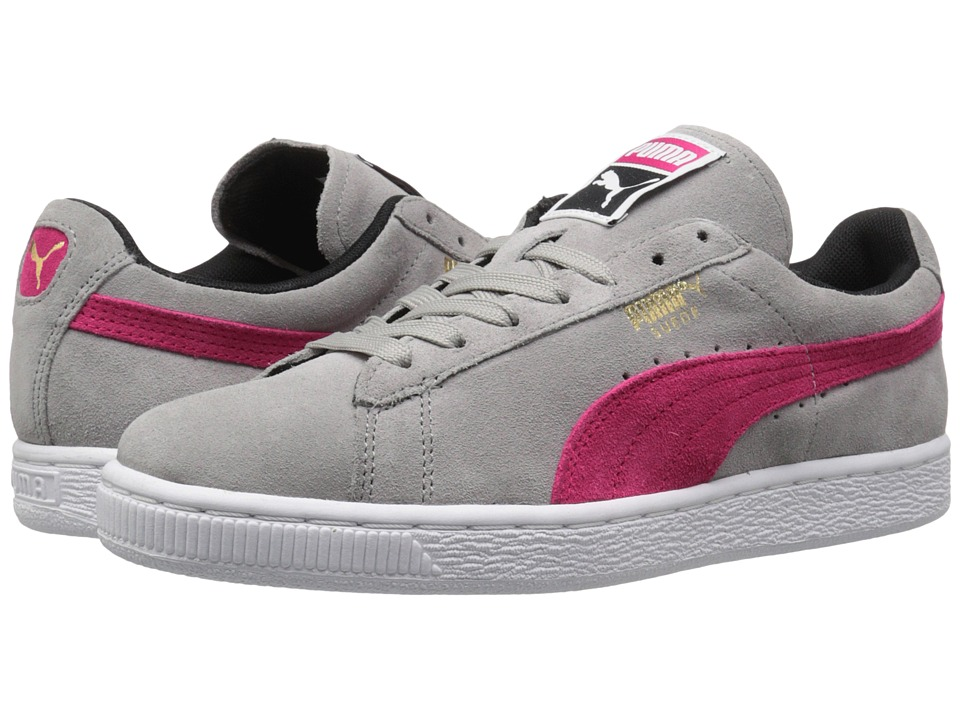 PUMA - Suede Classic (Drizzle/Rose Red/Black) Womens Shoes