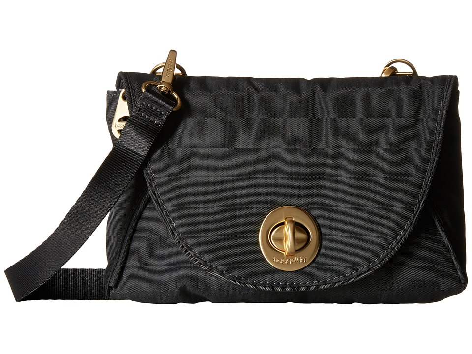 Baggallini Gold Seville Mini Charcoal Cross Body Handbags