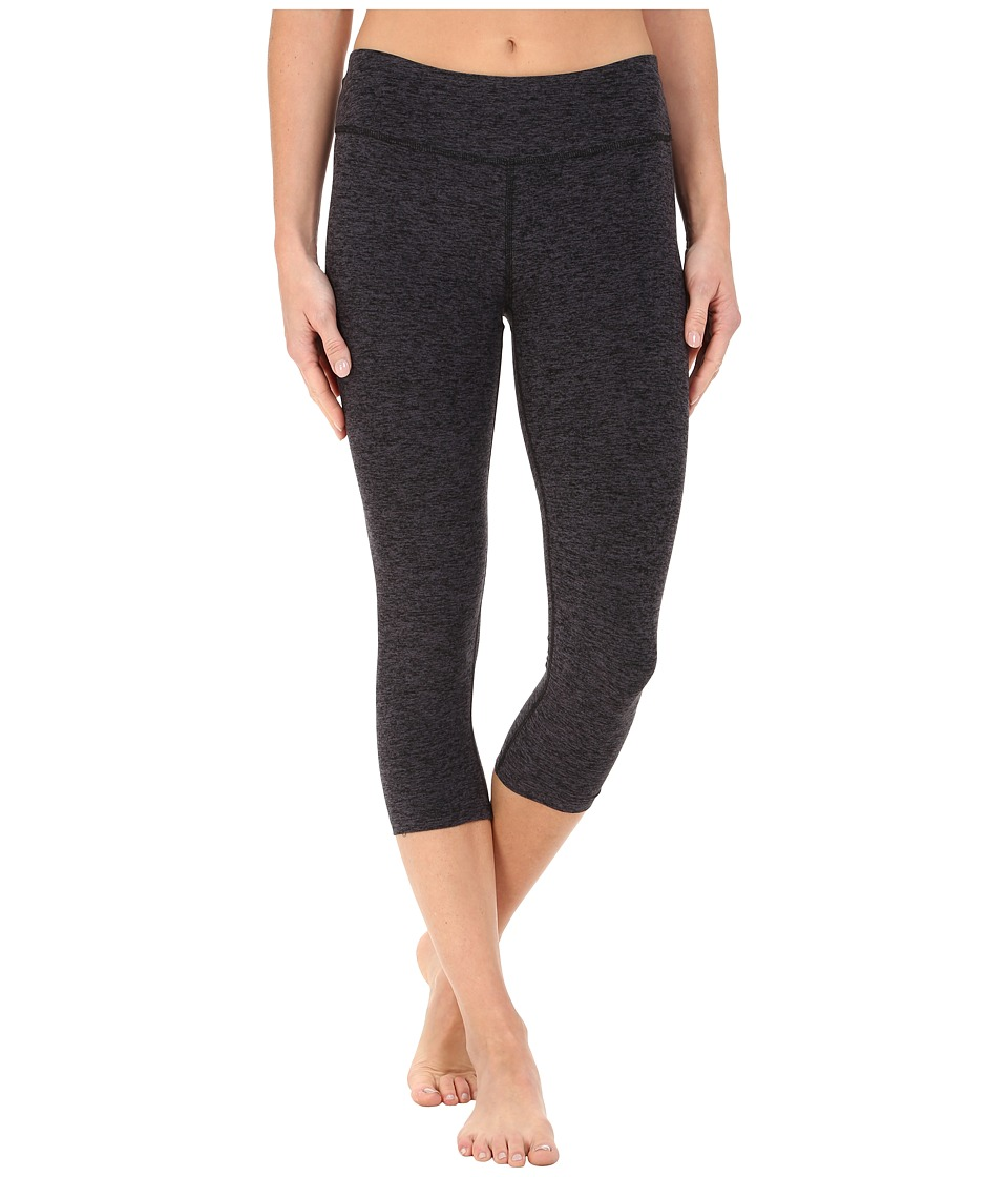 Beyond Yoga - Capri Leggings (Black/Steel Spacedye) Womens Capri