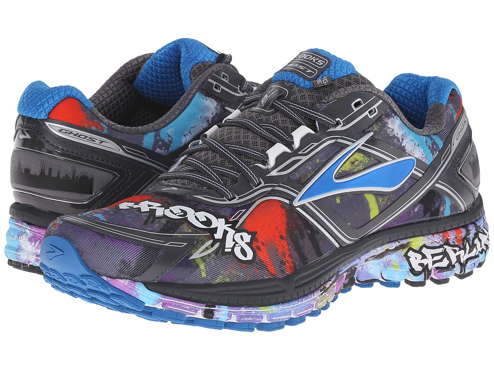 Brooks Ghost 8 Anthracite/Directorie Blue/White Womens Running Shoes