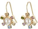 LAUREN Ralph Lauren Pearls Rock Faceted Stone Flower Drop Earrings