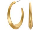 LAUREN Ralph Lauren Luxe Links Medium Knife Edge Hoop Earrings