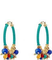 LAUREN Ralph Lauren - Fantastic Voyage Medium Multi Bead Hoop Earrings