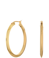LAUREN Ralph Lauren - Luxe Links Large Oval Knife Edge Hoop Earrings