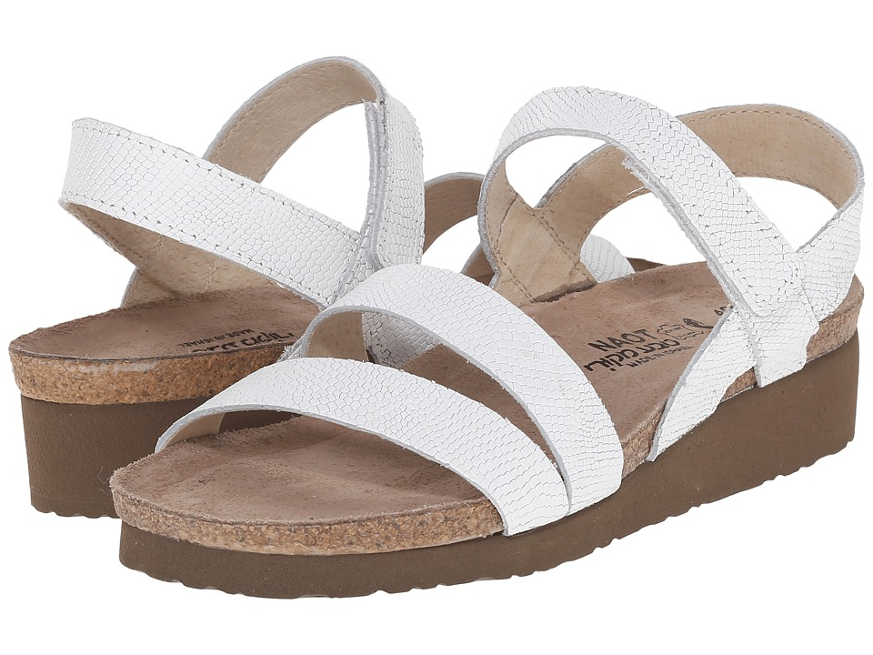 Naot Footwear Kayla (White Snake Leather) Sandals
