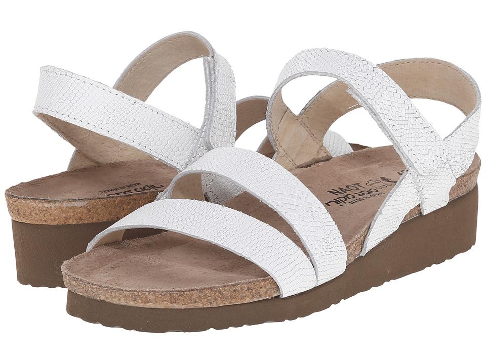 Naot Kayla (White Snake Leather) Sandals