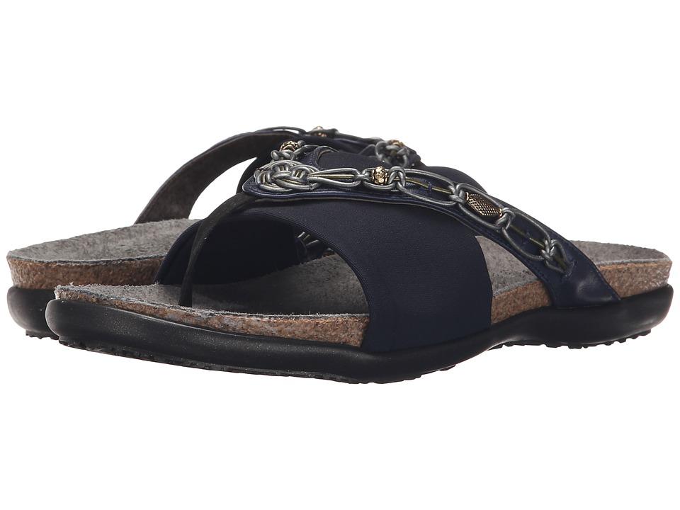 Naot Jennifer (Polar Sea Leather/Navy Stretch) Sandals