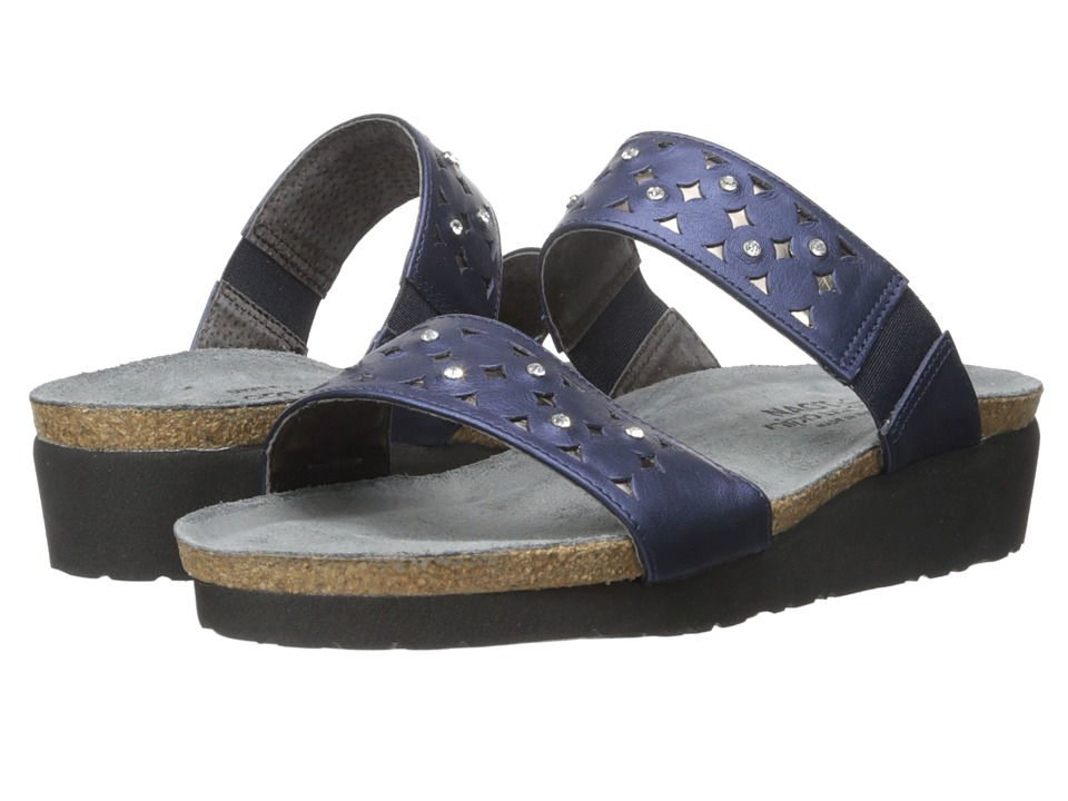 Naot Susan (Polar Sea Leather/Glass Silver) Women's Slide...