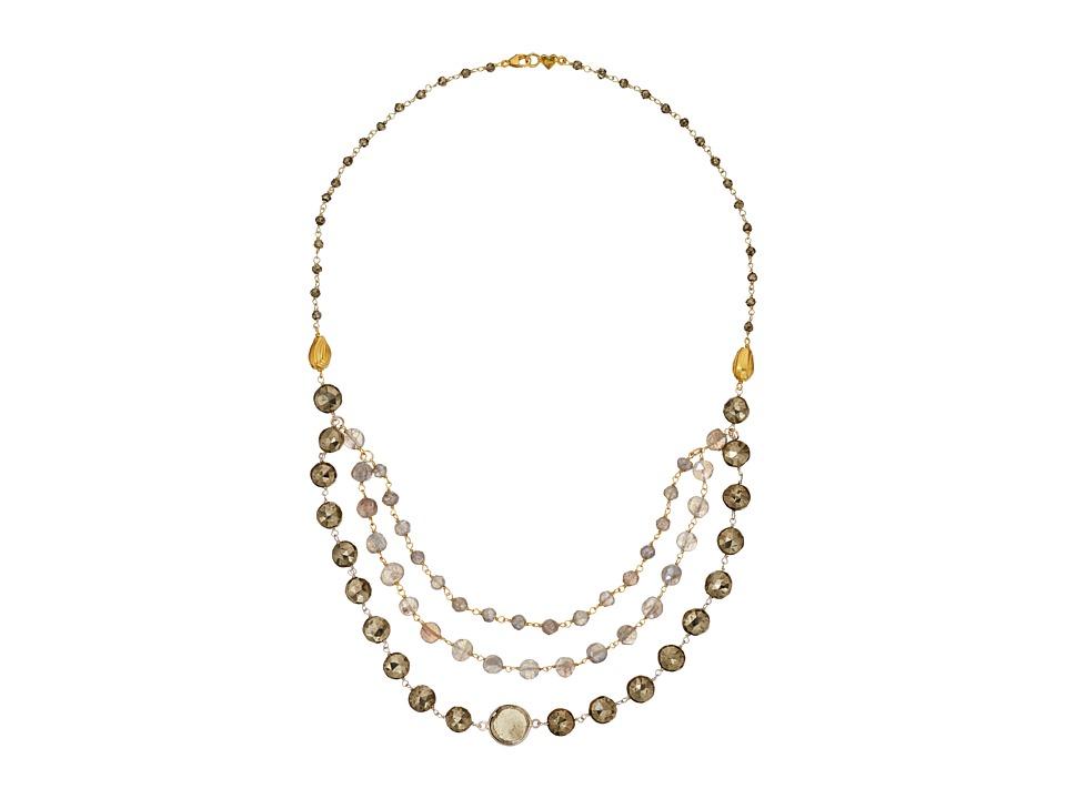 Chan Luu 19 Mystic Labradorite Mix Multi Strand Necklace Mystic Lab Necklace