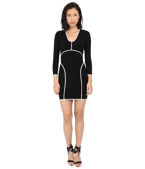 DSQUARED2 Long Sleeve V-Neck Dress