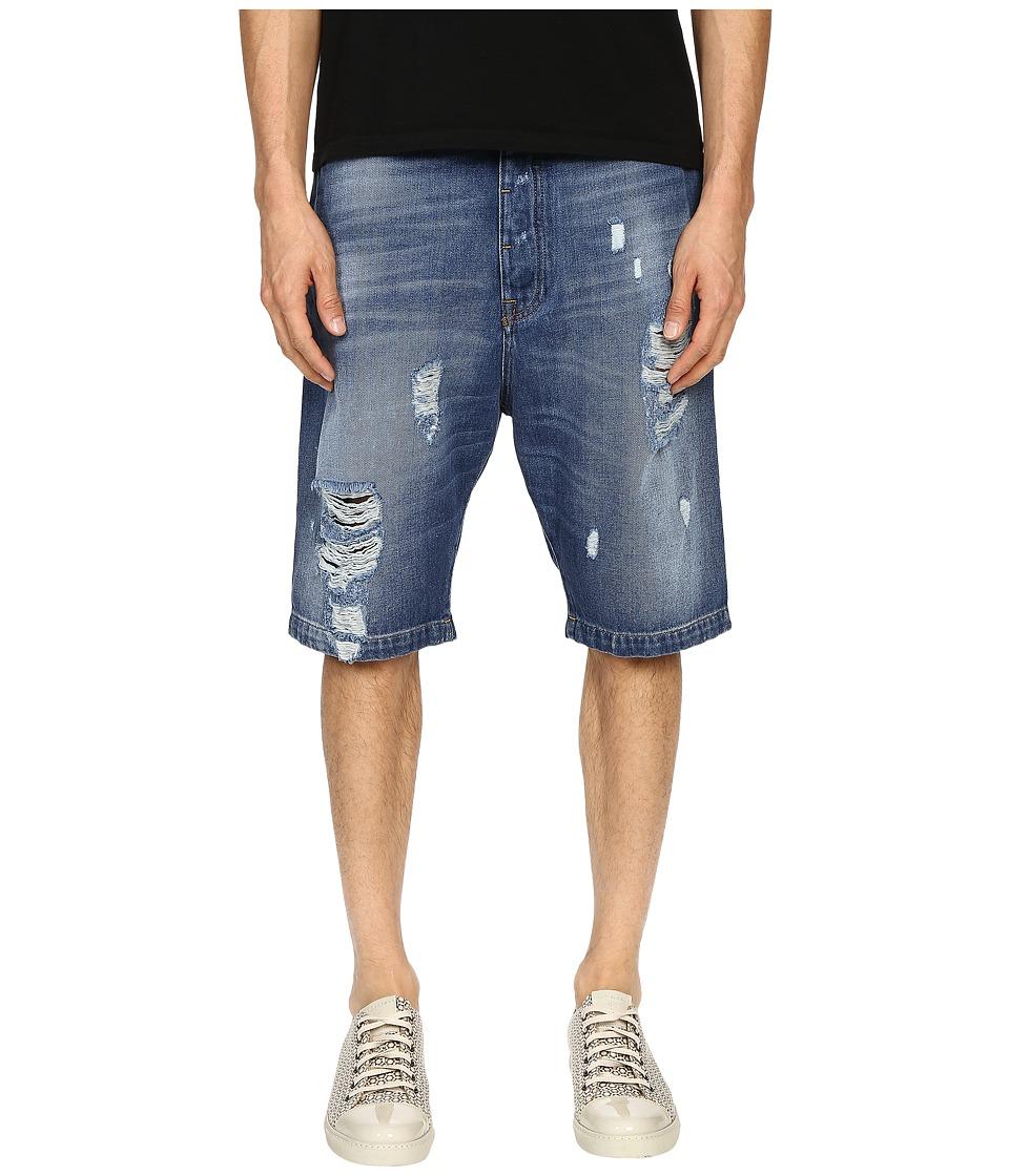 Vivienne Westwood Anglomania Cargo Shorts Blue Denim Mens Shorts