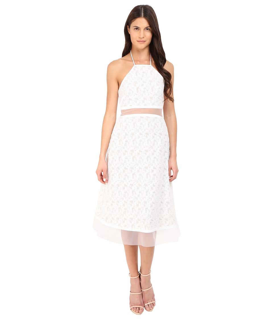 Prabal Gurung Fils Coupe Cotton Illusion Sleeveless Dress Porcelain Womens Dress