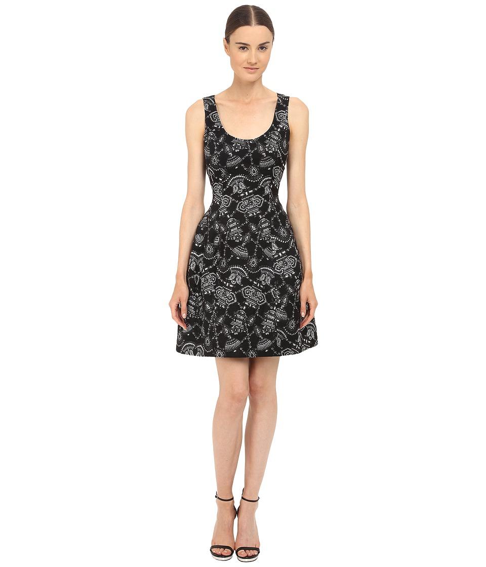 Prabal Gurung Lurex Jacquard Sleeveless Dress Black/Silver Womens Dress