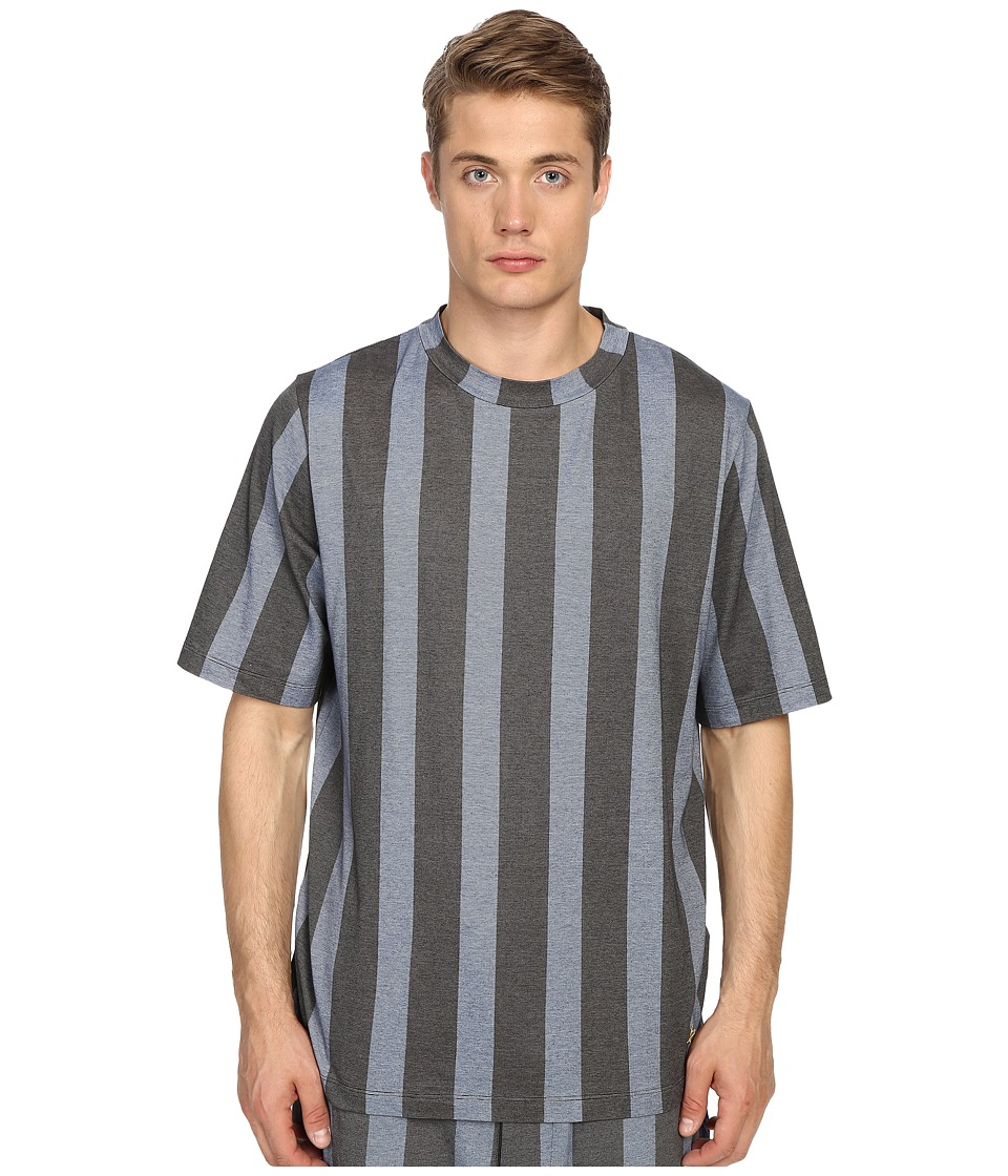 Vivienne Westwood Printed Stripe Jersey Horatio T Shirt Blue Stripe Mens Short Sleeve Pullover
