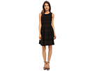 Donna Morgan Sleeveless Scub and Lace Fit and Flare (Black)