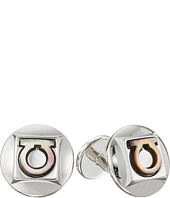 Salvatore Ferragamo - Single Gancio Round Cufflinks
