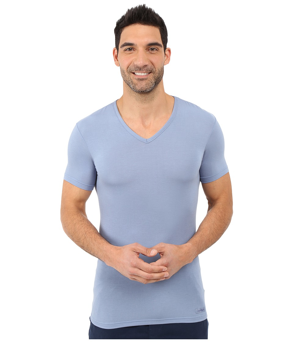 Calvin Klein Underwear - Body Micro Modal S/S V-Neck U5563 (Eventide) Men