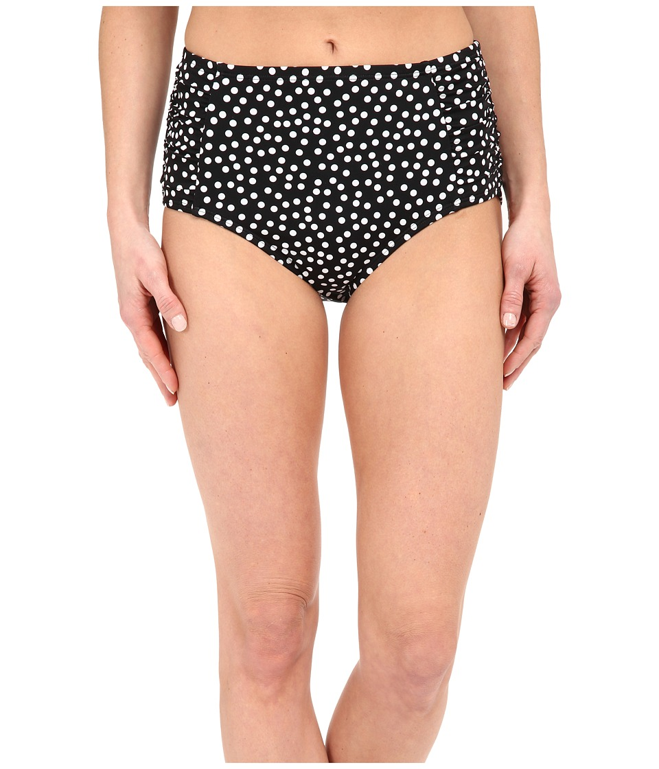 Jantzen Jet Set Dot High Waisted Bottom Black Womens Swimwear