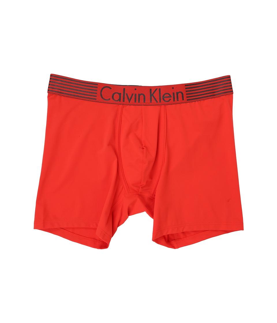 Calvin Klein Underwear Iron Flex Micro Boxer Brief Ryan Red Mens Underwear