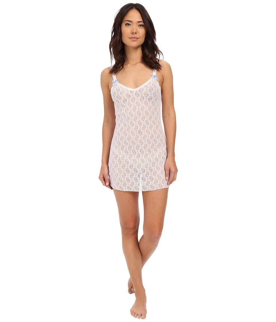 b.tempt'd - Lace Kiss Chemise (White) Women's Pajama