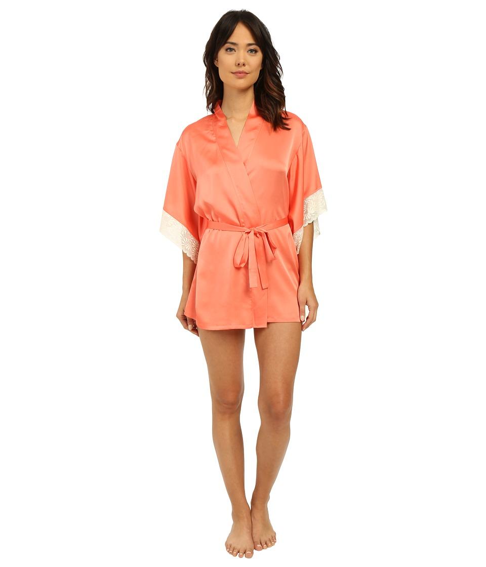 Josie Coquette Wrap Apricot/Warm White Lace Womens Pajama