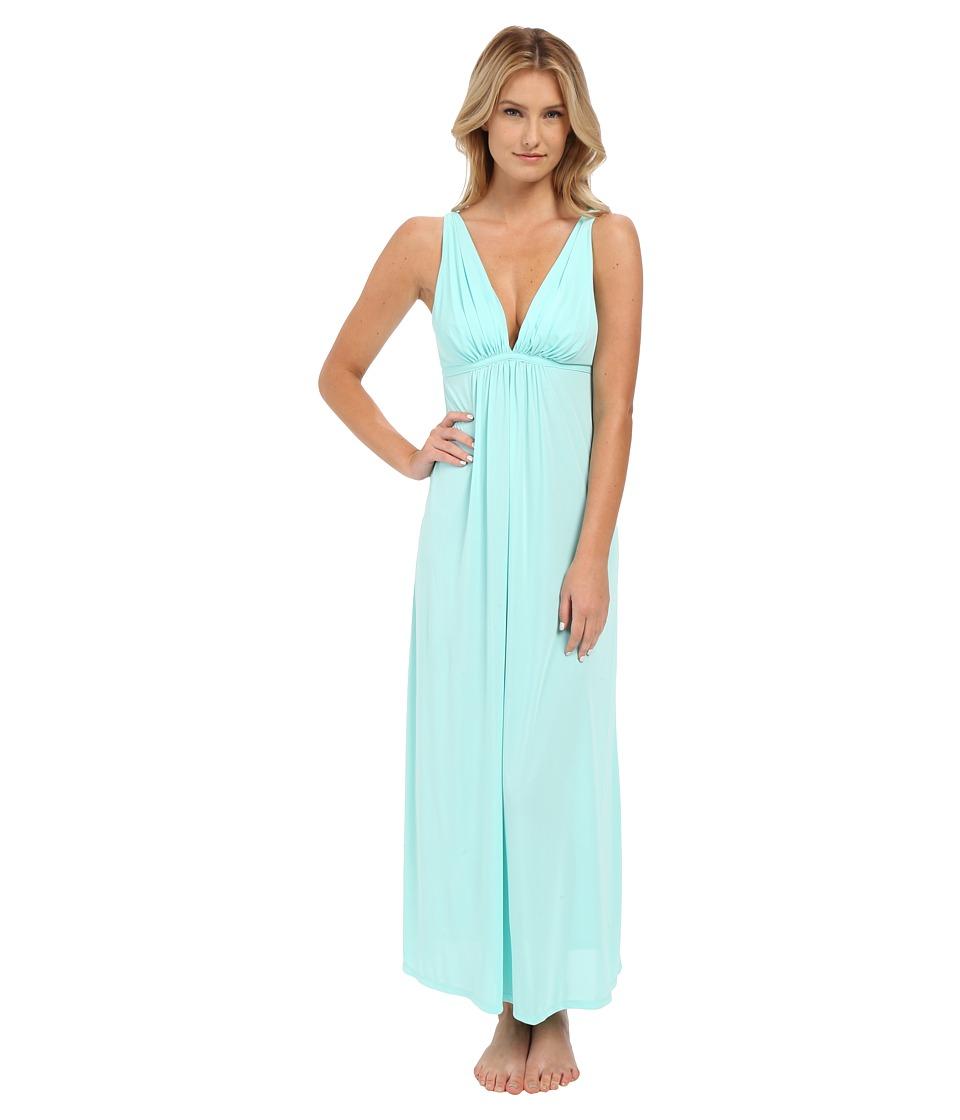 Natori Aphrodite Tank Gown Seafoam Womens Pajama