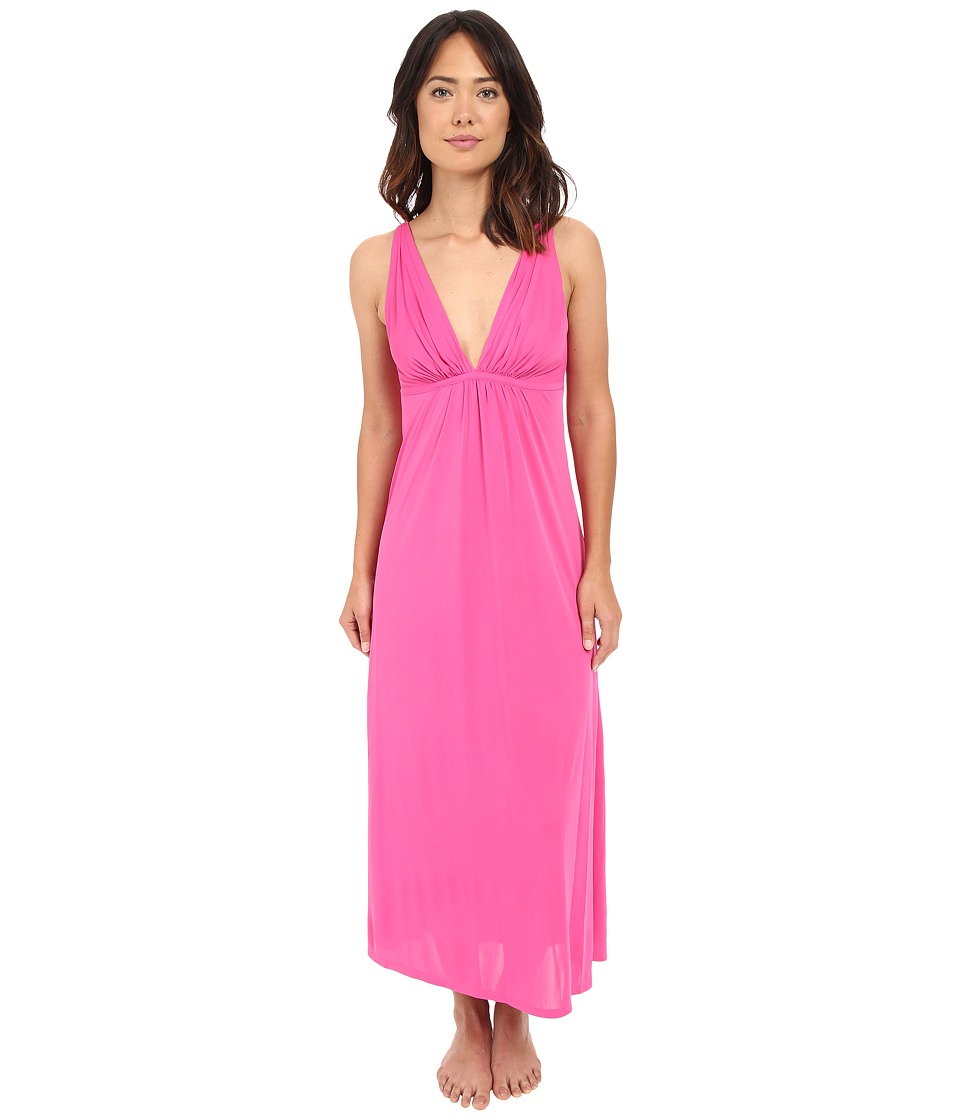 Natori Aphrodite Tank Gown Tropical Pink Womens Pajama