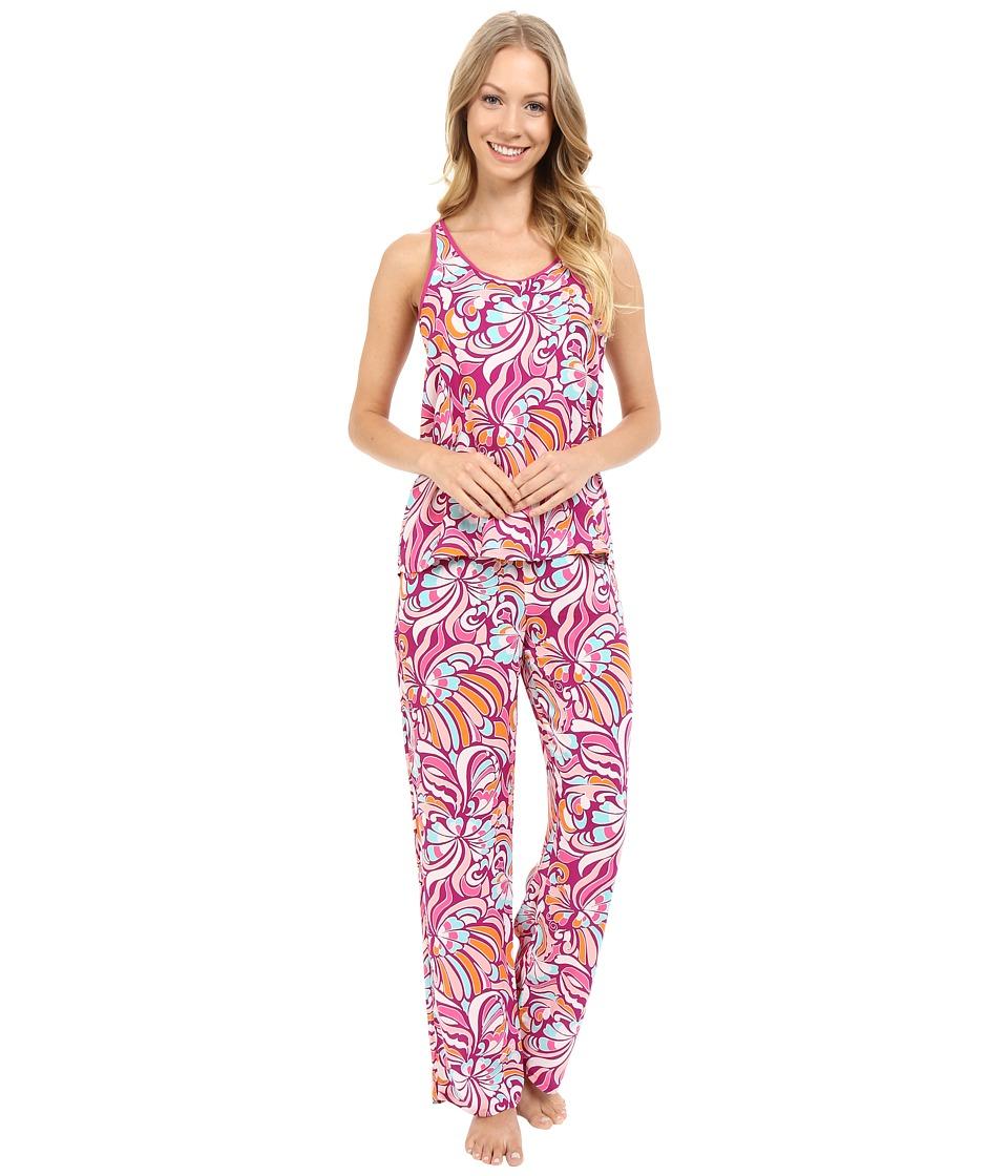 Josie Groovy Ribbons PJ Fuchsia Womens Pajama Sets