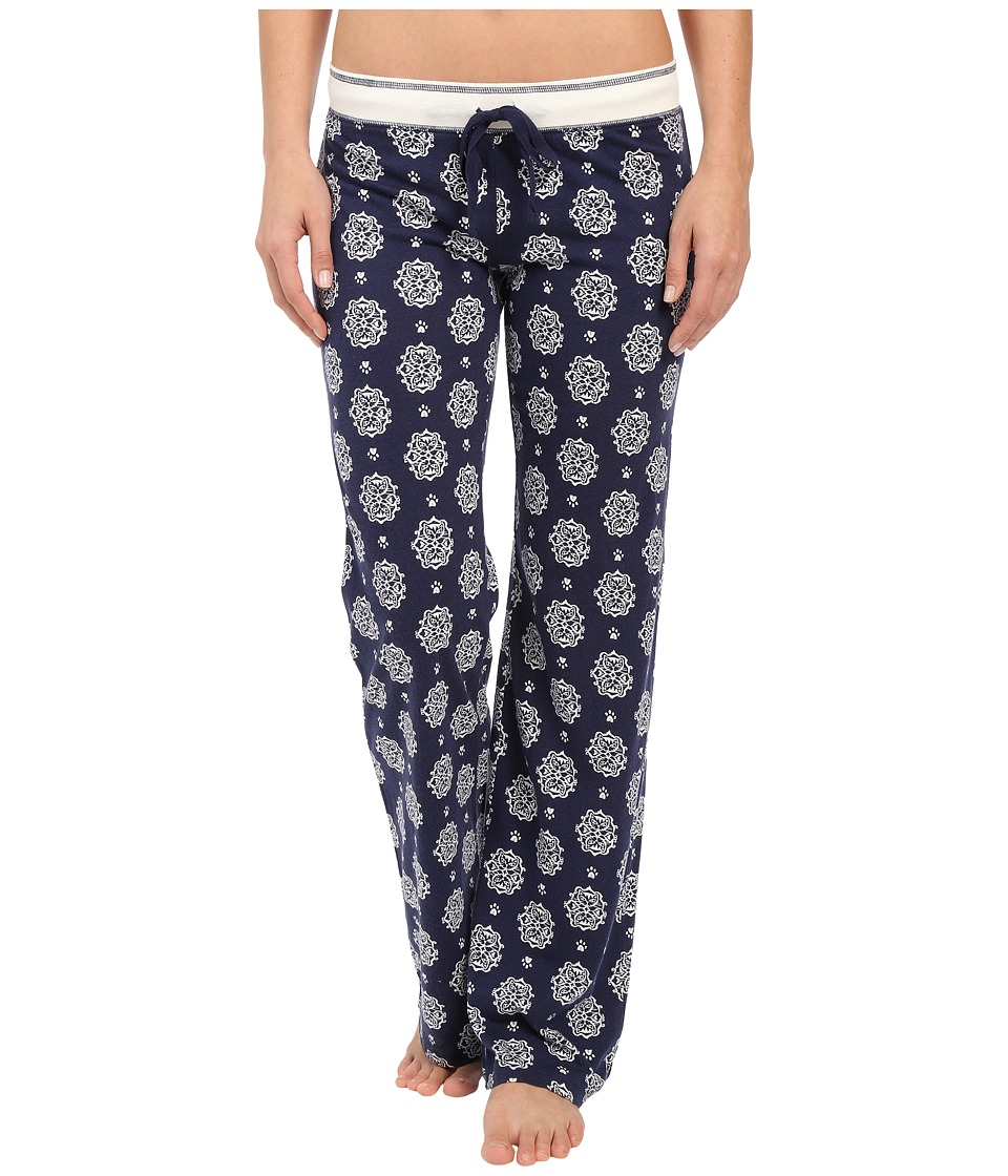 P.J. Salvage Cat Print Lounge Pants Navy Womens Pajama