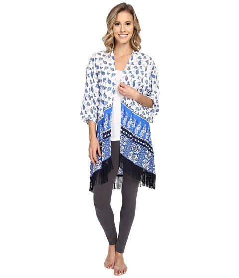 P.J. Salvage Coastal Blue Print Kimono