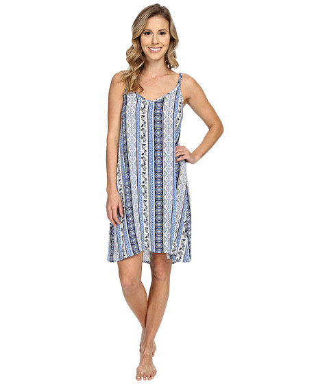 P.J. Salvage Coastal Blue Print Chemise