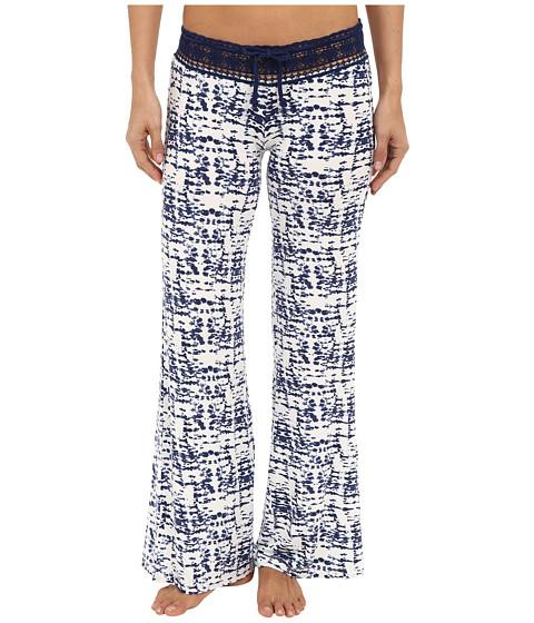 P.J. Salvage Tie-Dye Crochet Waist Pants