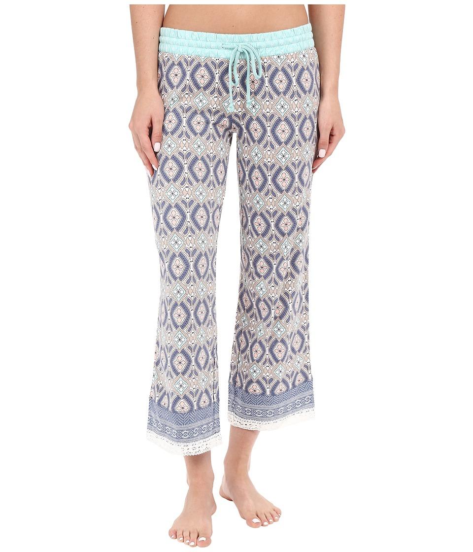 P.J. Salvage Miss Matched Crop Sleep Pants Natural Womens Pajama