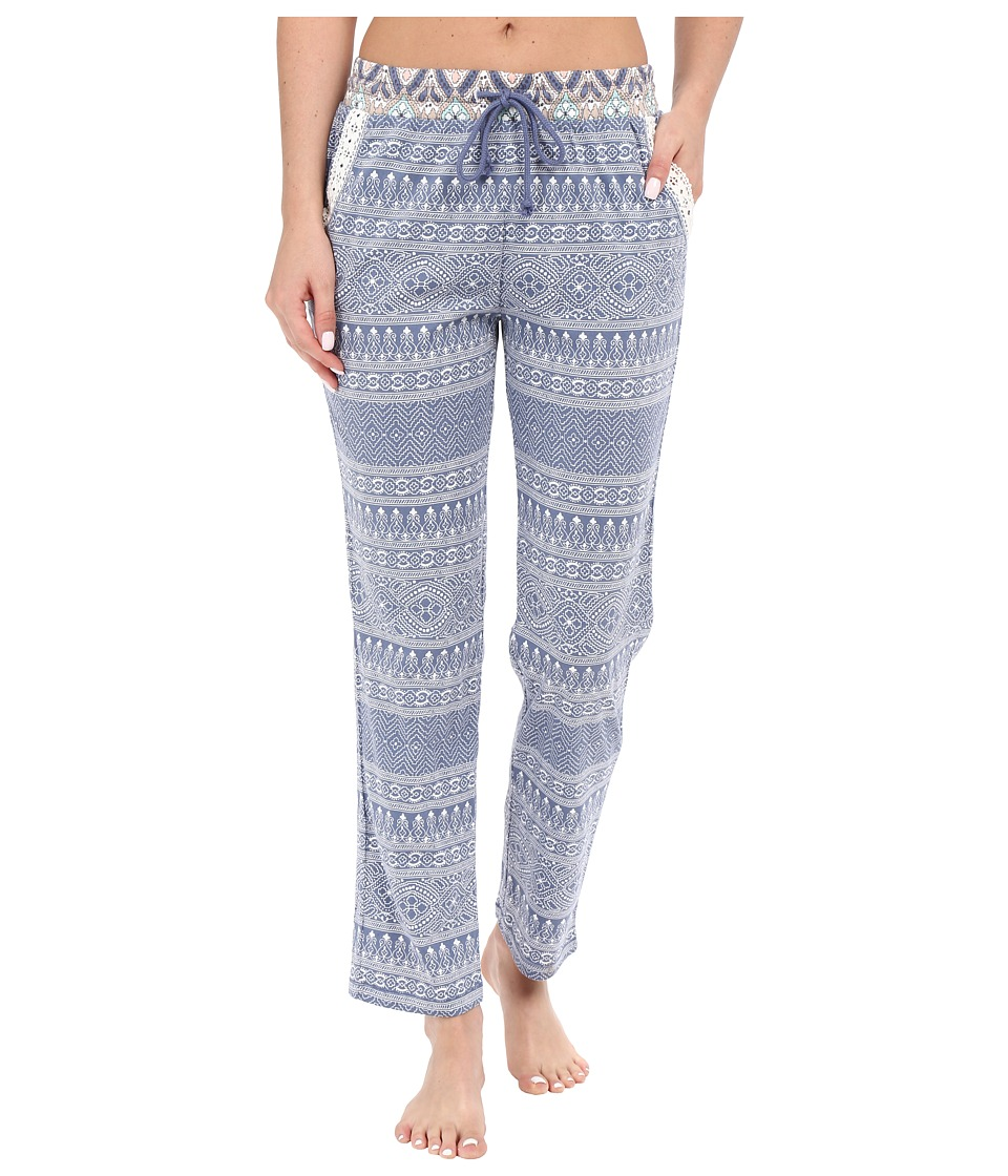 P.J. Salvage Miss Matched Sleep Pants Denim Womens Pajama