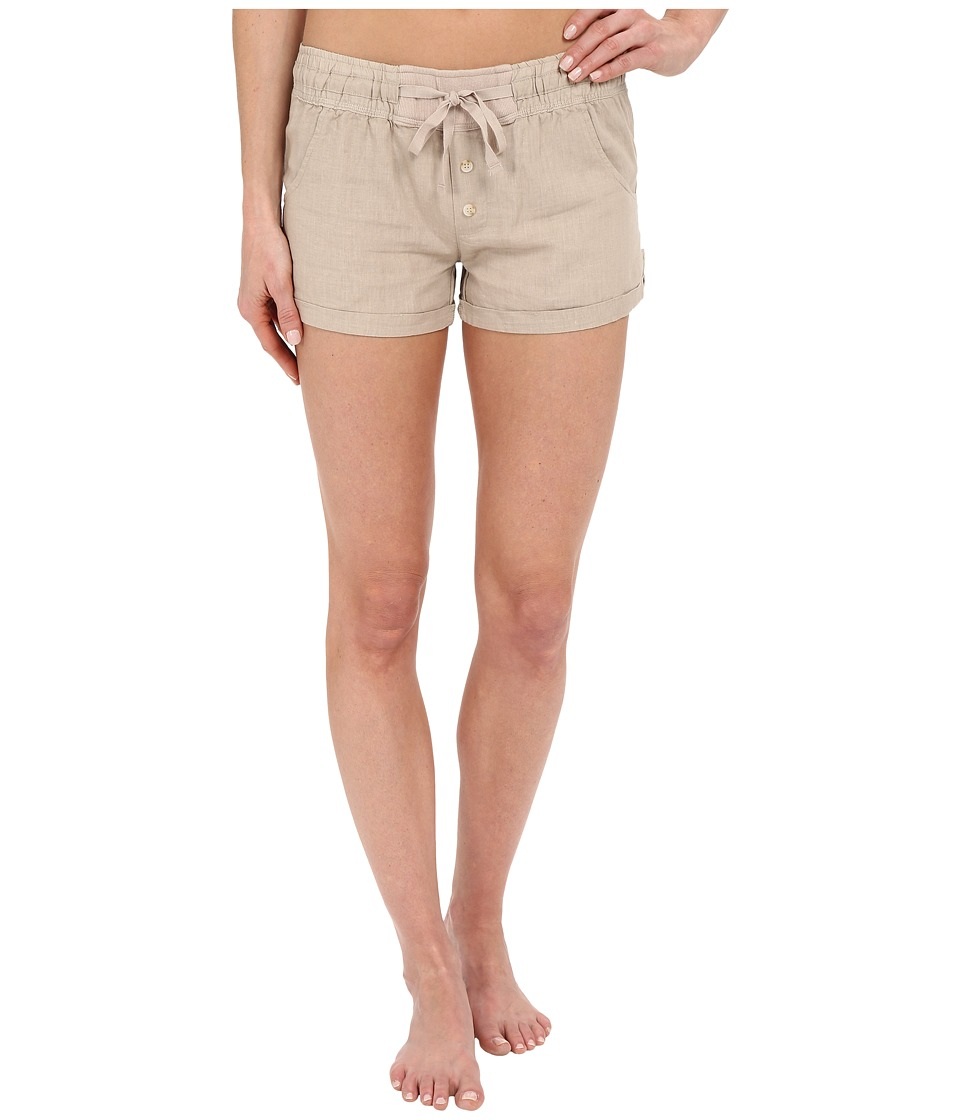 P.J. Salvage Washed Linen Blend Shorts Champagne Womens Pajama