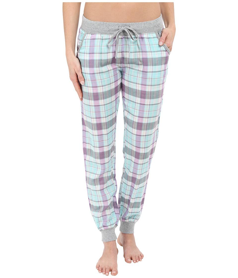 P.J. Salvage Double Sided Plaid Jogger Pants Multi Womens Pajama