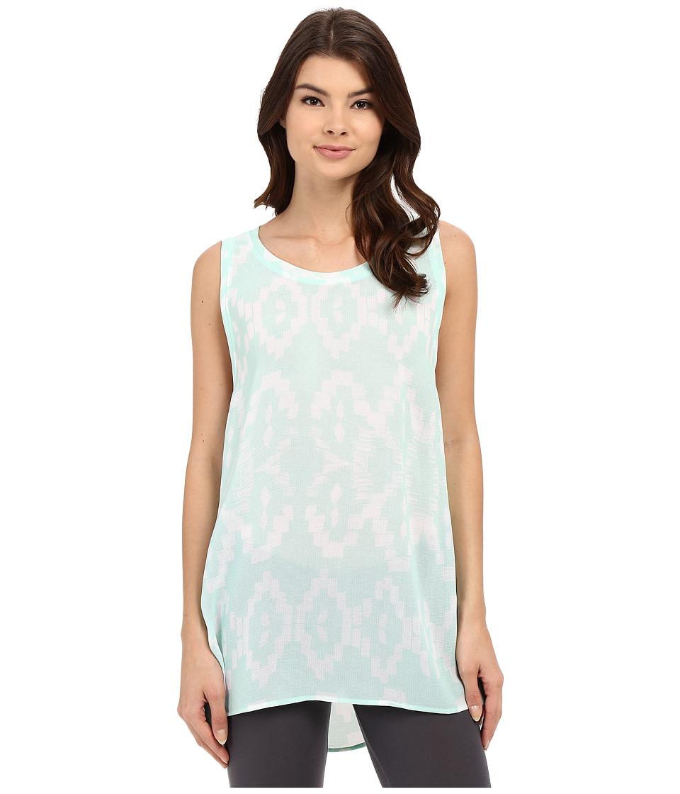 Lysse Aria Zip Sleeveless Aqua Samba Print Womens Sleeveless