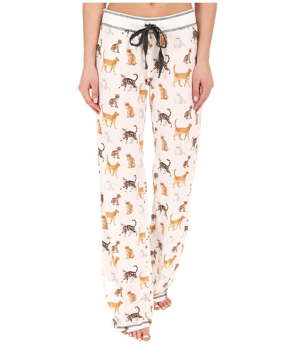 P.J. Salvage Cat Print PJ Pants Ivory Womens Pajama