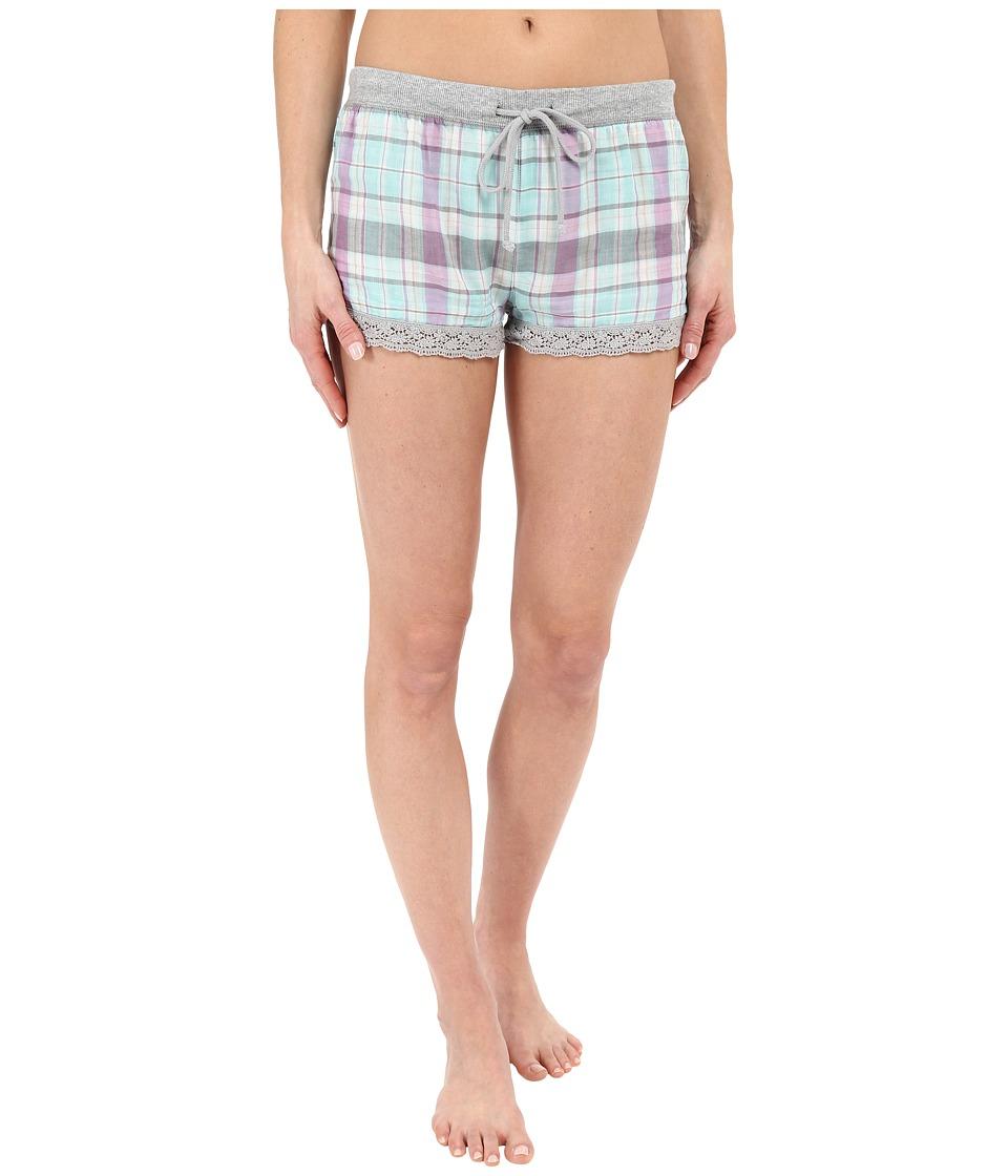 P.J. Salvage Doubled Sided Plaid Shorts Multi Womens Pajama