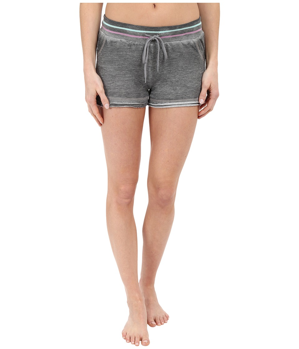 P.J. Salvage Frayed Edge Shorts Heather Grey Womens Pajama
