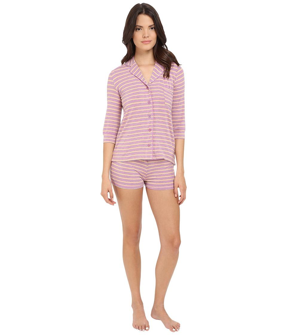 P.J. Salvage Wisteria Stripe PJ Set with Shorts Wisteria Womens Pajama Sets